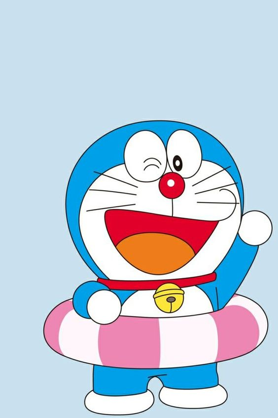 Doraemon Memakai Ban Pelampung
