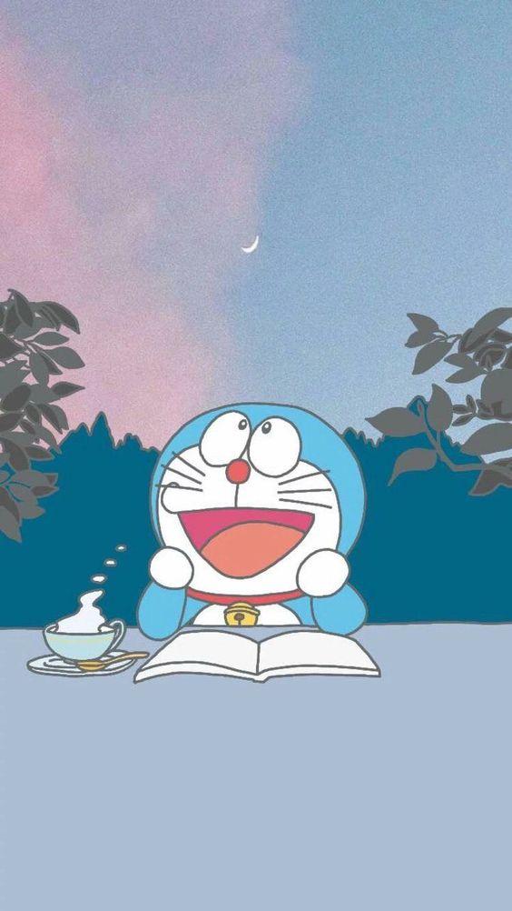 Doraemon Membaca Buku