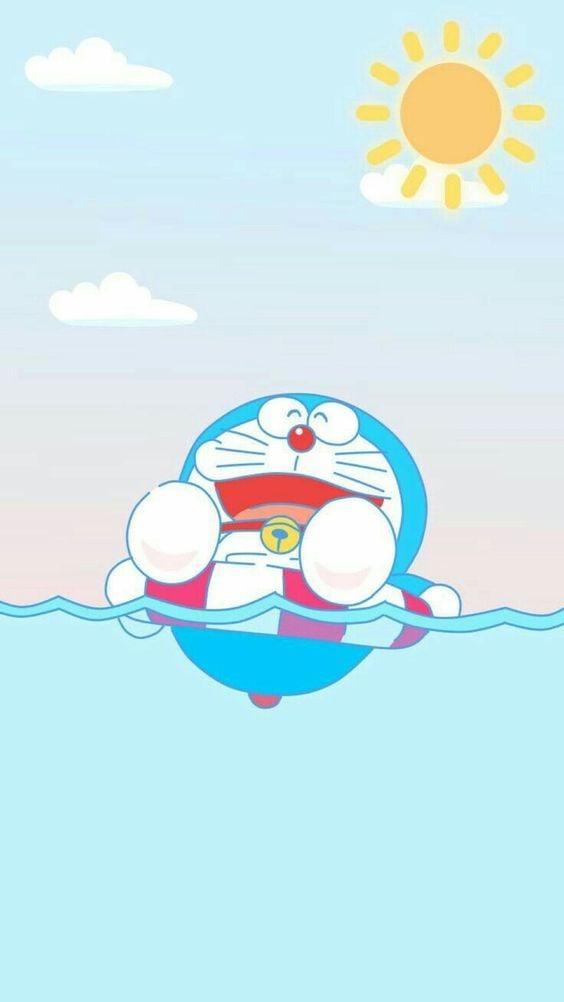 Doraemon di Pantai