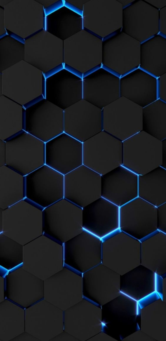 Hexagon With Blue Light