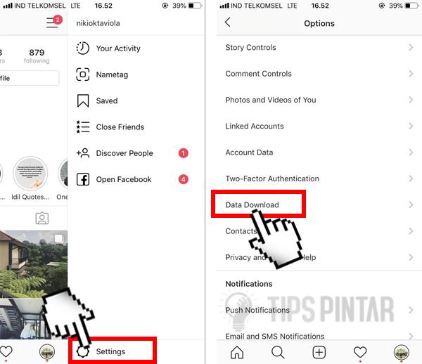 Cara Backup Foto, DM dan Komentar di Instagram Agar Tidak Hilang