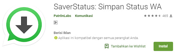 Cara Download Status WA