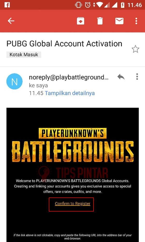 Confirm Register