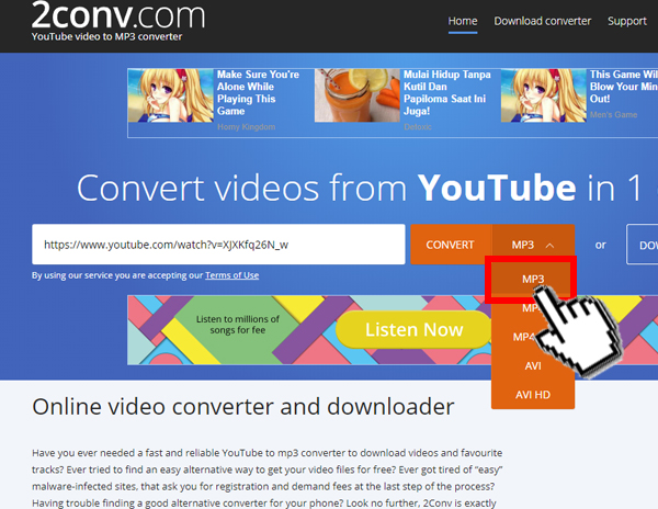 Cara Convert Video YouTube