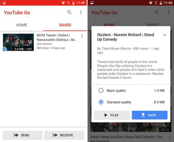 Kelebihan YouTube GO