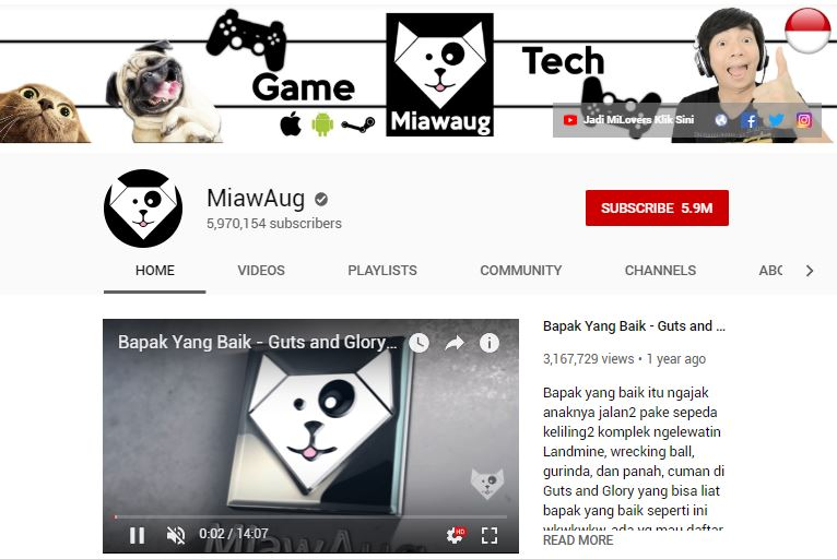 Channel YouTube Gaming