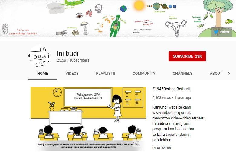 channel YouTube edukasi