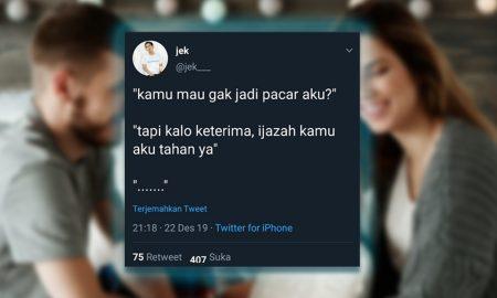 Tweet Lucu dan Receh Saat Nembak Gebetan