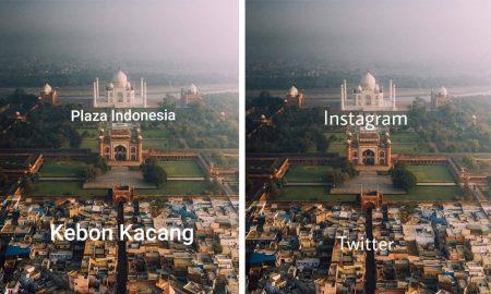 Meme Kesenjangan Sosial dari Potret Bangunan Taj Mahal