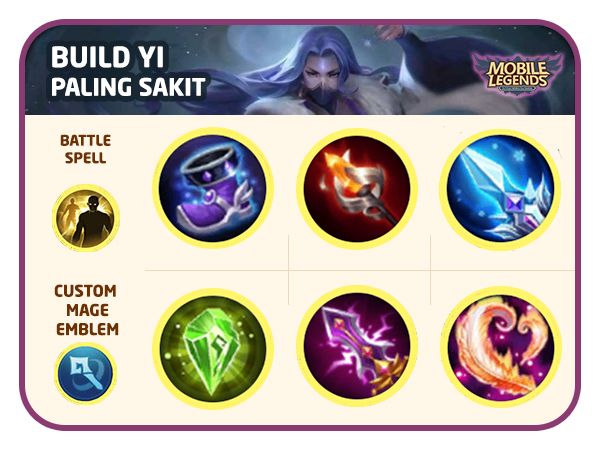 Mobile Legends Luo Yi : Best Build Full Damage