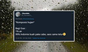 Komposisi Hujan yang Bikin Warga Twitter Setuju