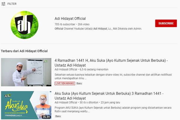10 Channel YouTube Dakwah Terbaik di Bulan Ramadhan