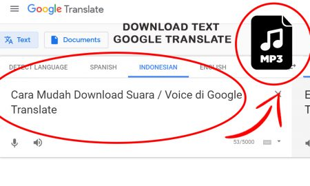 Cara Mudah Download Suara / Voice di Google Translate