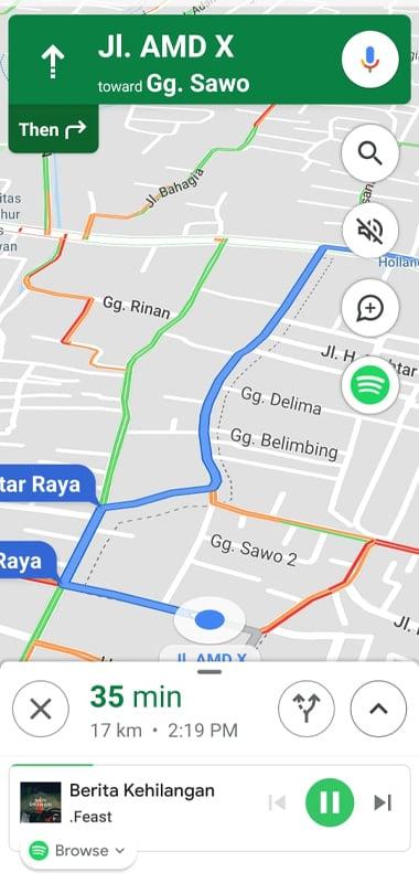 Cara Memutar Lagu Spotify di Google Maps