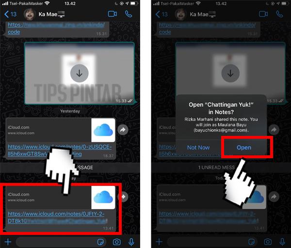 Trik Chattingan Lewat Noted di iPhone