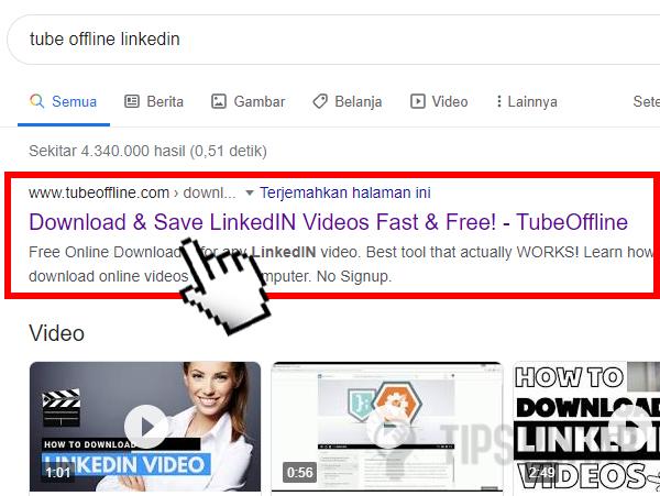 Cara Download Video LinkedIn