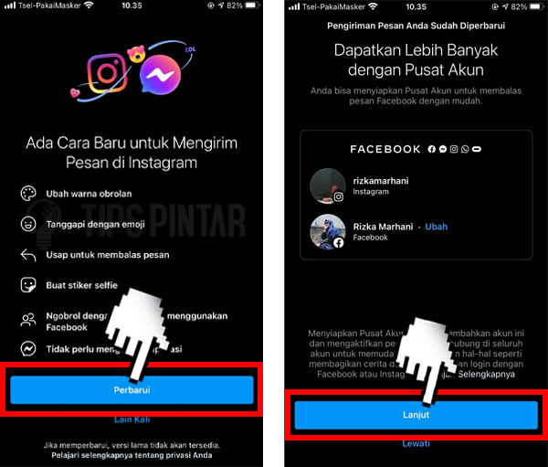 Cara Mengganti Bubble Chat di DM Instagram
