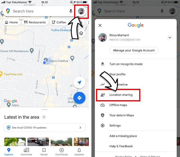 Cara Berbagi Live Location Di Google Maps Lokasi Real Time