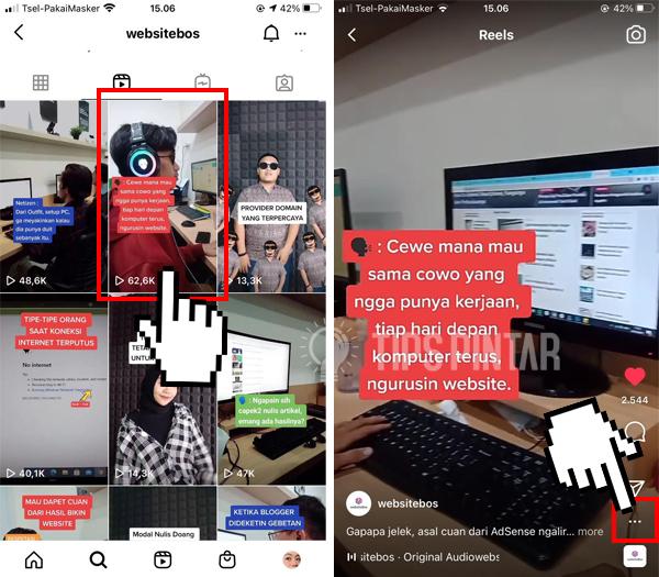 Cara Download Video Reels Instagram Tanpa Aplikasi Tambahan